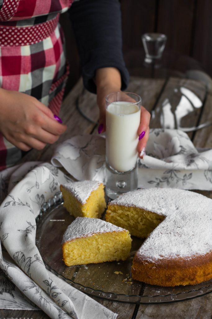torta al latte caldo, hot milk sponge cake