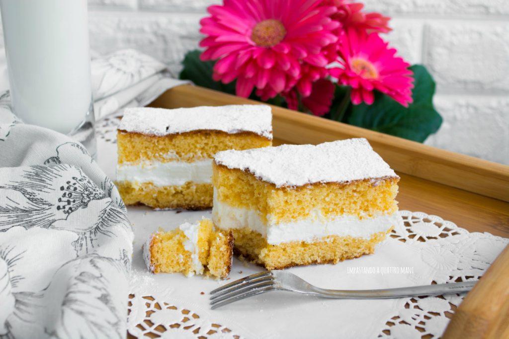 torta paradiso con crema al latte
