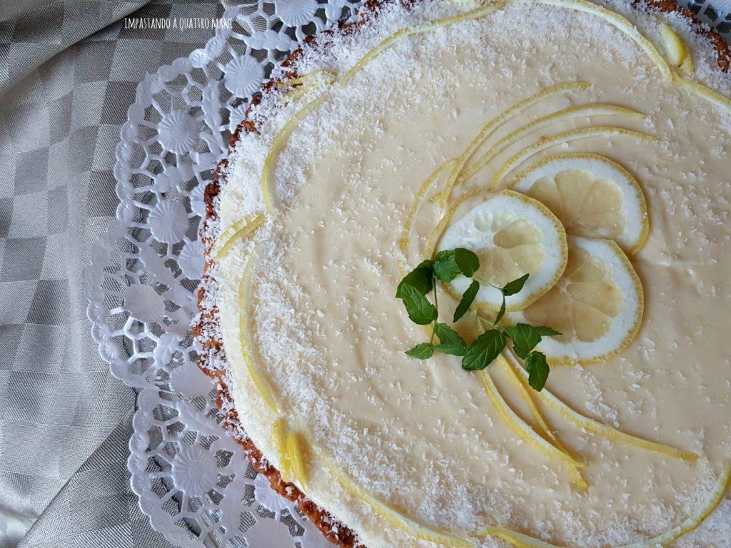 crosta al cocco con crema al limone