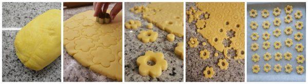 preparazione dei biscotti canestrelli