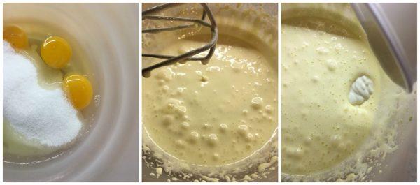 preparazione della torta 7 vasetti al gusto cacao