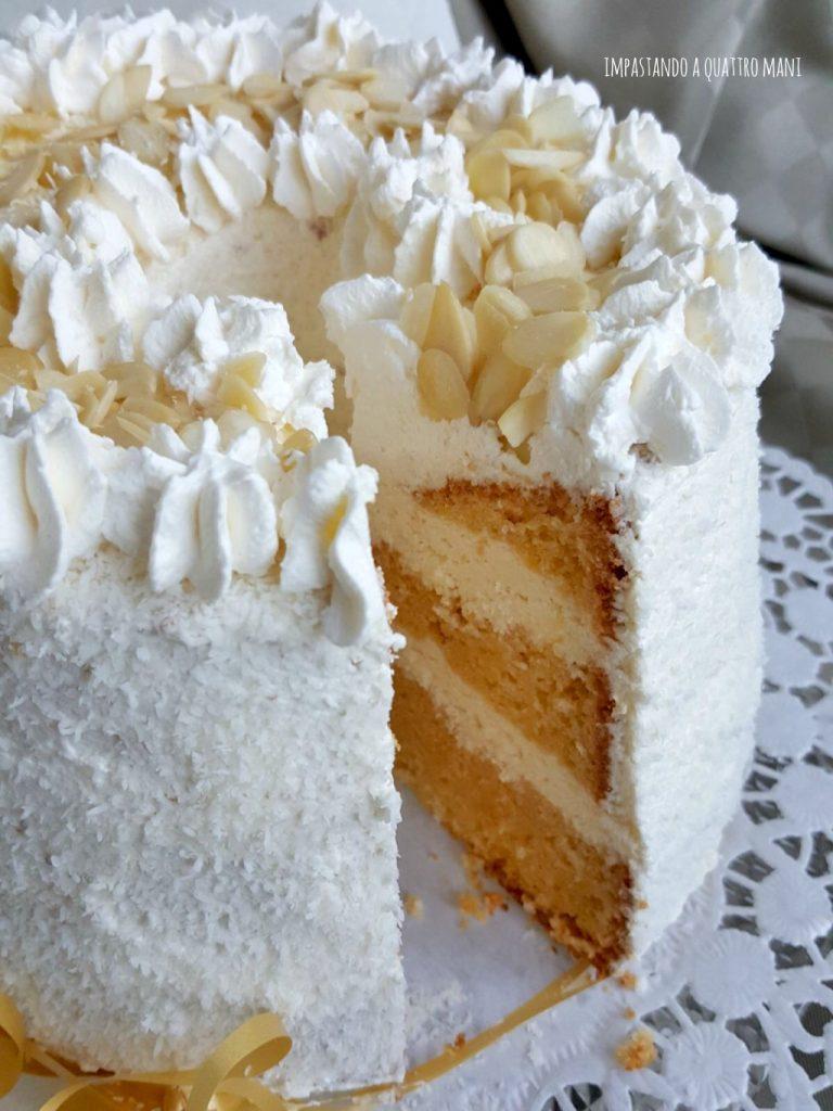 fluffosa raffaello chiffon cake al gusto cocco