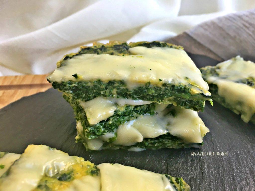 frittata al forno di spinaci