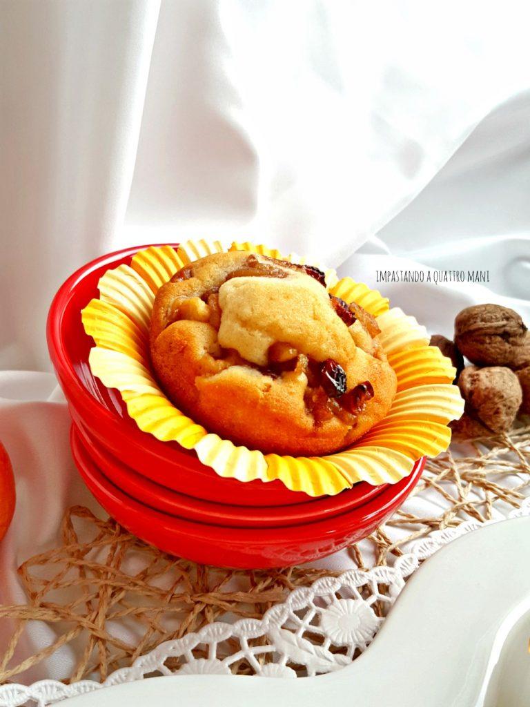muffin alle mele con noci e uvetta