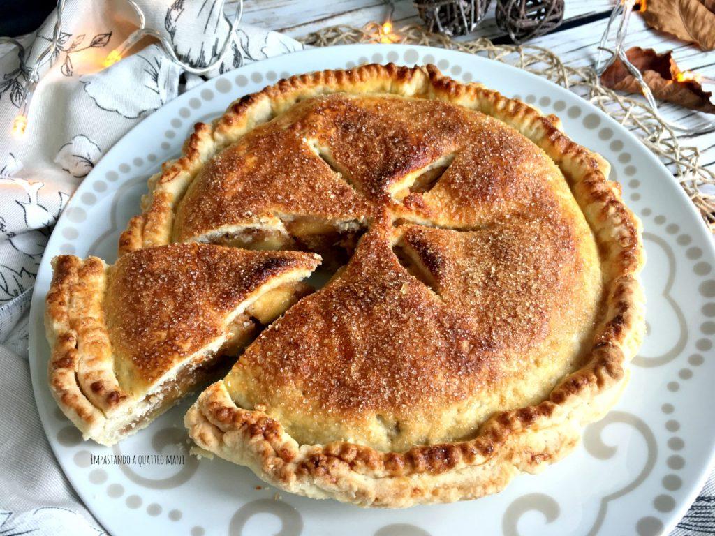 apple pie, torta americana di mele, o torta di nonna papera