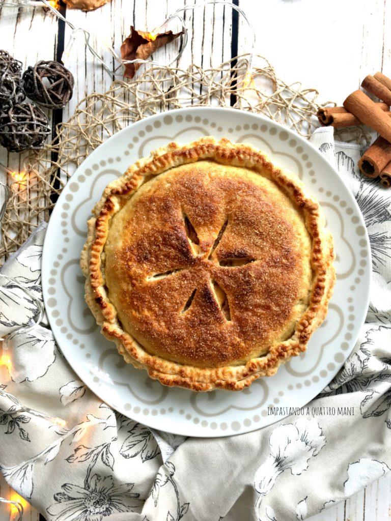 apple pie, torta americana alle mele o torta di nonna papera