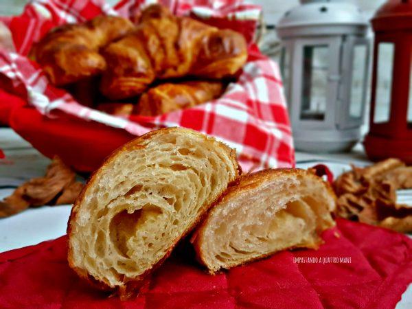 croissant francesi sfogliati interno