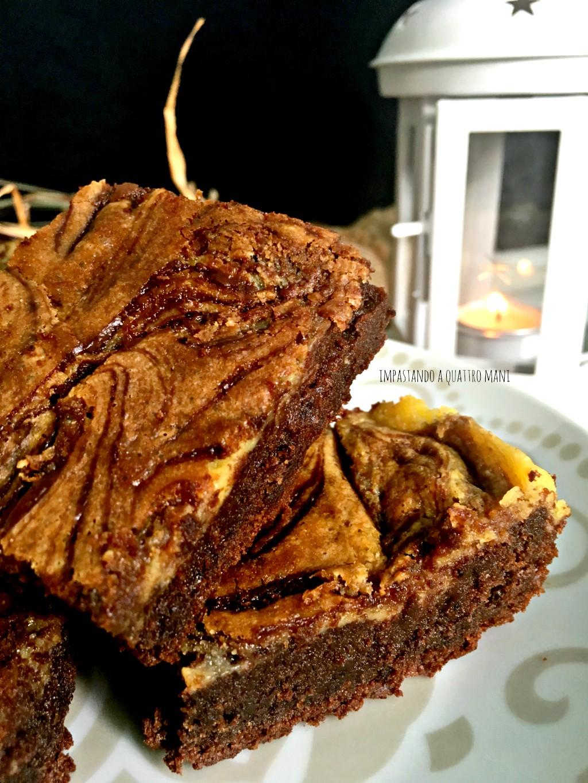 nutella brownies cheesecake con mascarpone