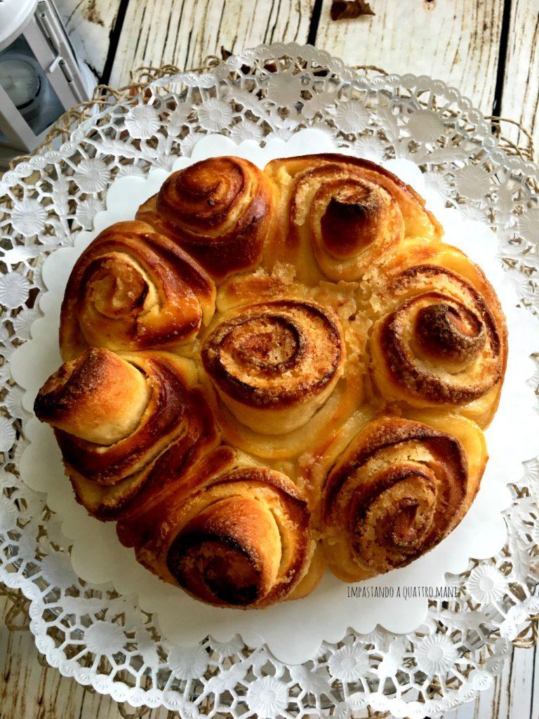 torta di rose a lievitazione naturale