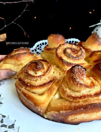torta di rose con lievito madre farcitura di burro e zucchero