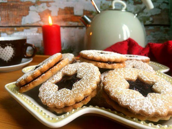 biscotti linzer, cookies austriaci di natale