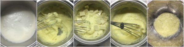 preparazione crema al cioccolato bianco