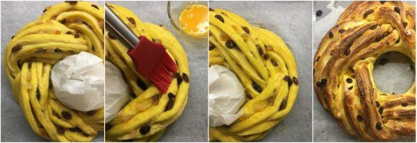 preparazione e cottura della torta angelica a lievitazione naturale con uvetta e canditi