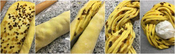 preparazione torta angelica a lievitazione naturale con uvetta e arancia candita