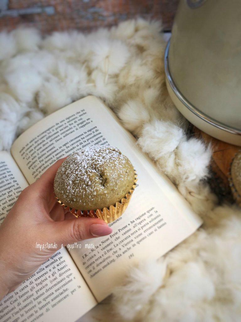 muffin al pistacchio con pasta di pistacchio, ricetta facilissima
