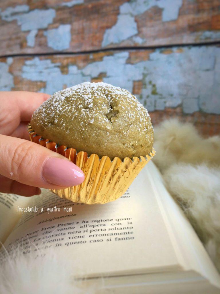 muffin al pistacchio con pasta di pistacchio