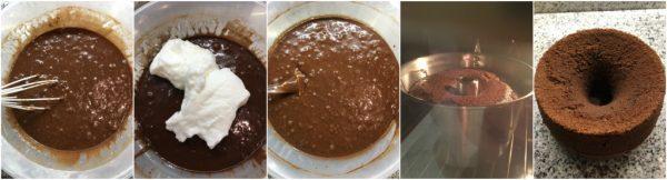 preparazione fluffosa al cacao