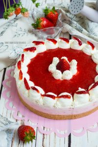 cheesecake fredda alle fragole