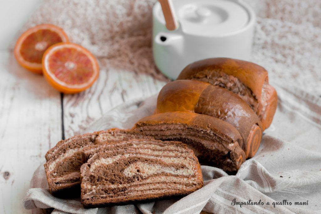 pan brioche arancia e cacao metodo tang zhong