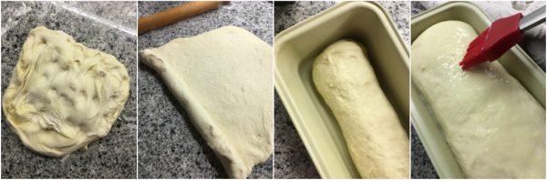 preparazione del pan bauletto di semola rimacinata con lievito madre