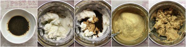 preparazione base al biscotto di savoiardi per tartufo semifreddo al tiramisù