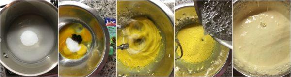 preparazione tartufo semifreddo al tiramisù pate à bombe