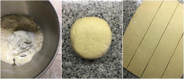 preparazione torta russa ripiena di fragole