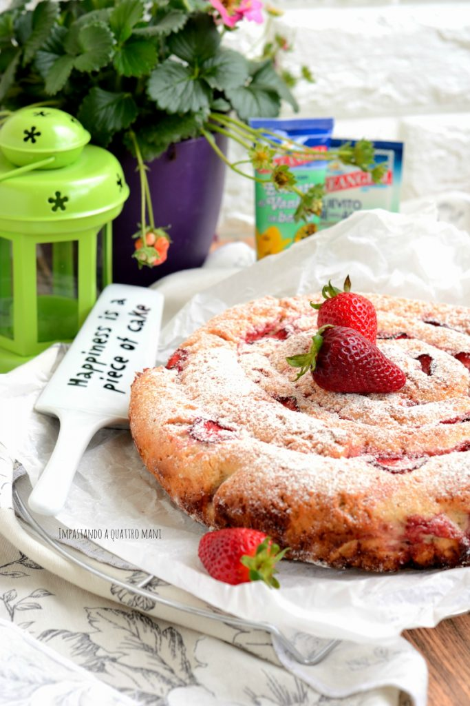 torta russa con fragole