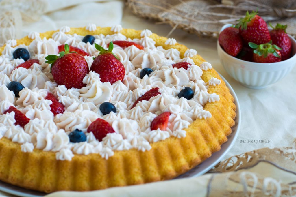 crostata morbida con camy cream alle fragole
