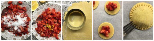 preparazione biscotti cuor di fragola