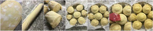 preparazione torta delle rose con sfogliatura veloce