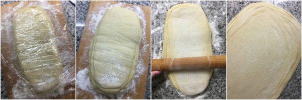 preparazione torta delle rose sfogliata