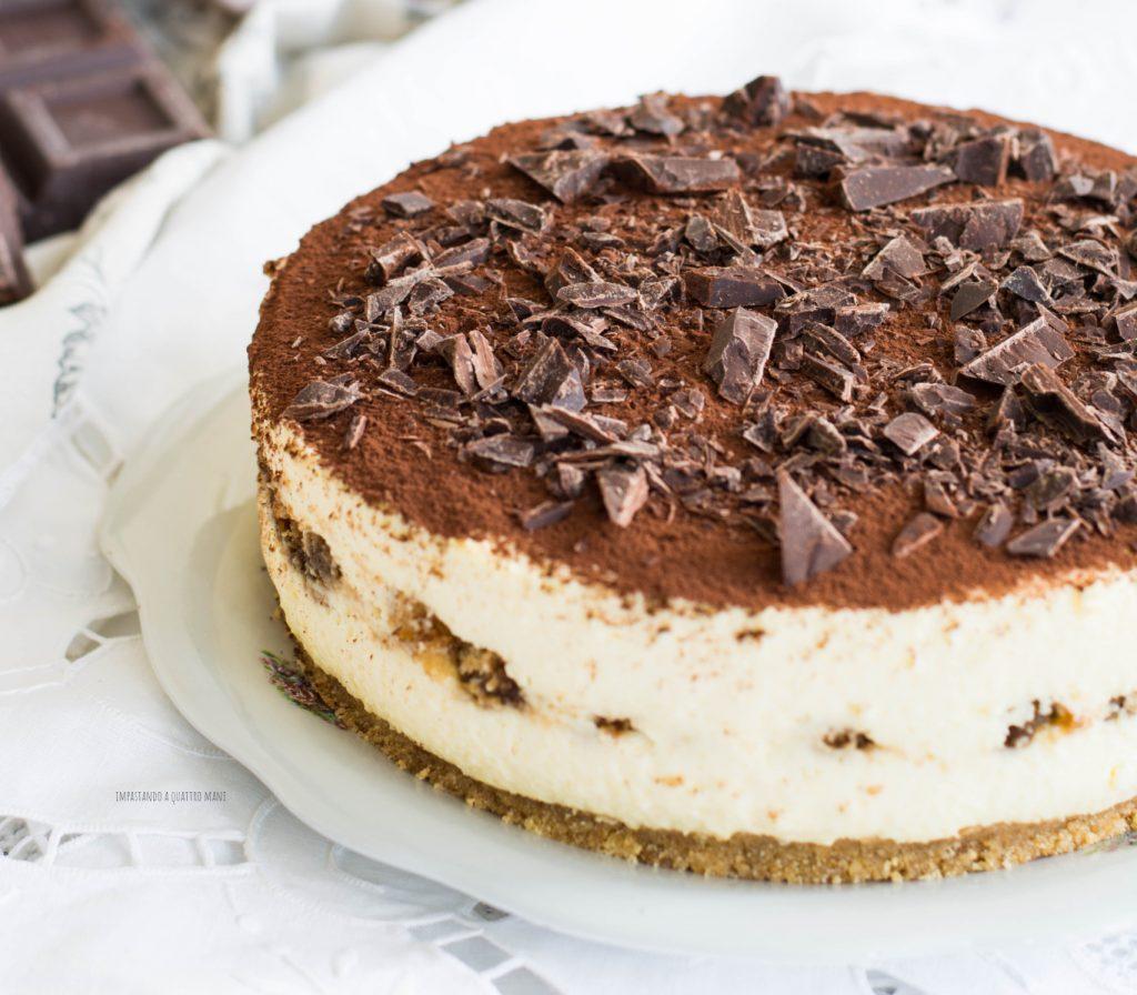 tiramisù cheesecake con uova pastorizzate