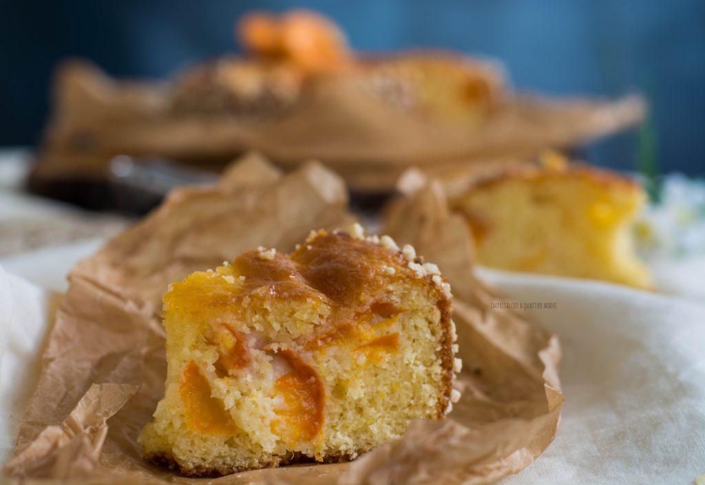 torta alle albicocche, dolce estivo a credenza
