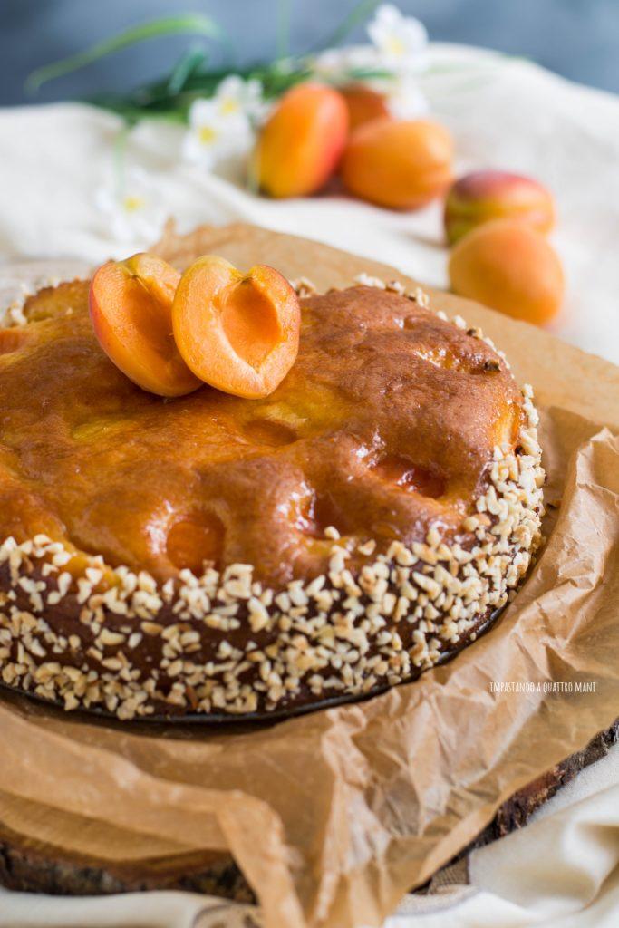 torta alle albicocche senza burro con robiola