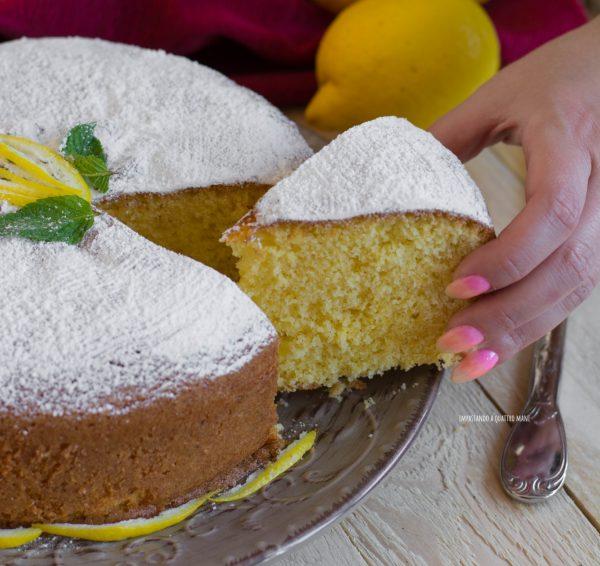 torta soffice al limone senza burro