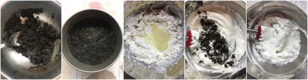 preparazione torta gelato senza gelatiera con oreo
