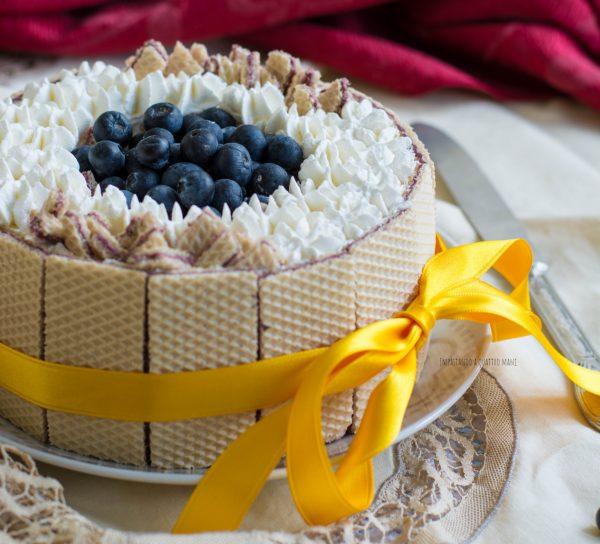 torta gelato e wafer senza gelatiera