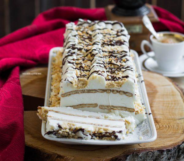 tronchetto gelato al mascarpone e caffè senza gelatiera