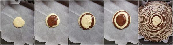 preparazione torta zebrata bigusto cacao e vaniglia
