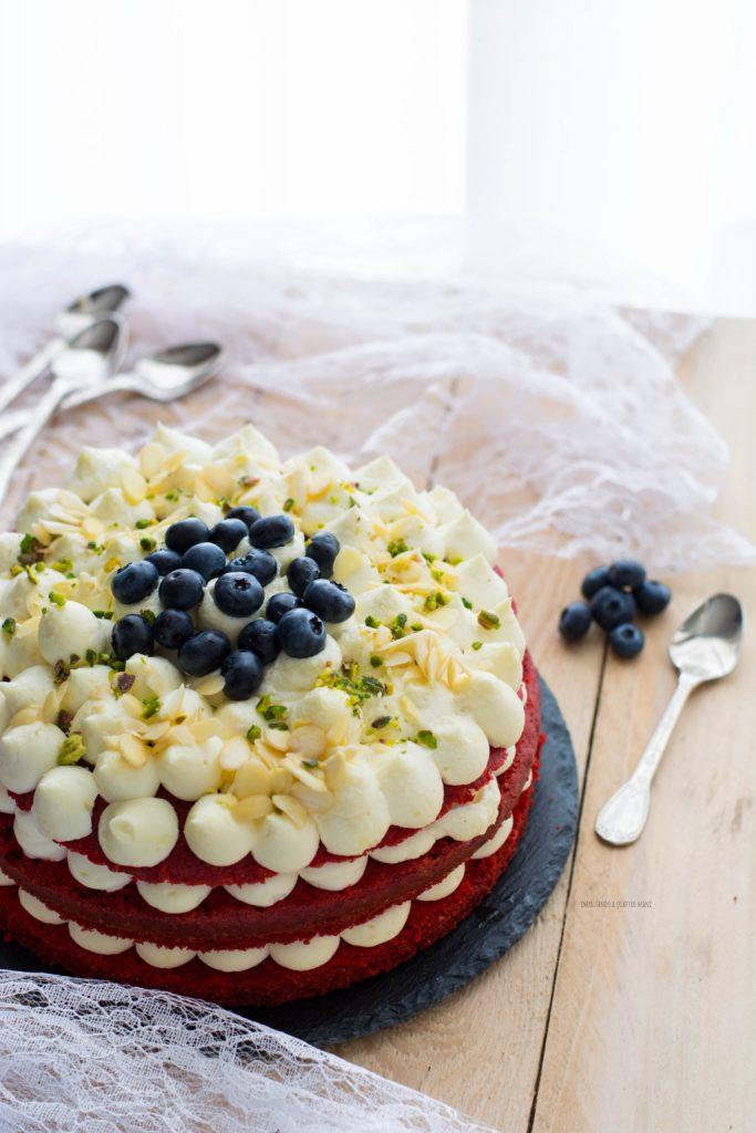 torta red velvet con camy cream