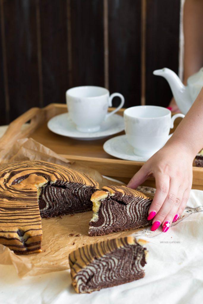 torta zebrata bigusto cacao e vaniglia