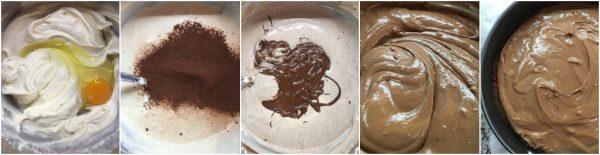preparazione new york cheesecake al cioccolato e pan di stelle