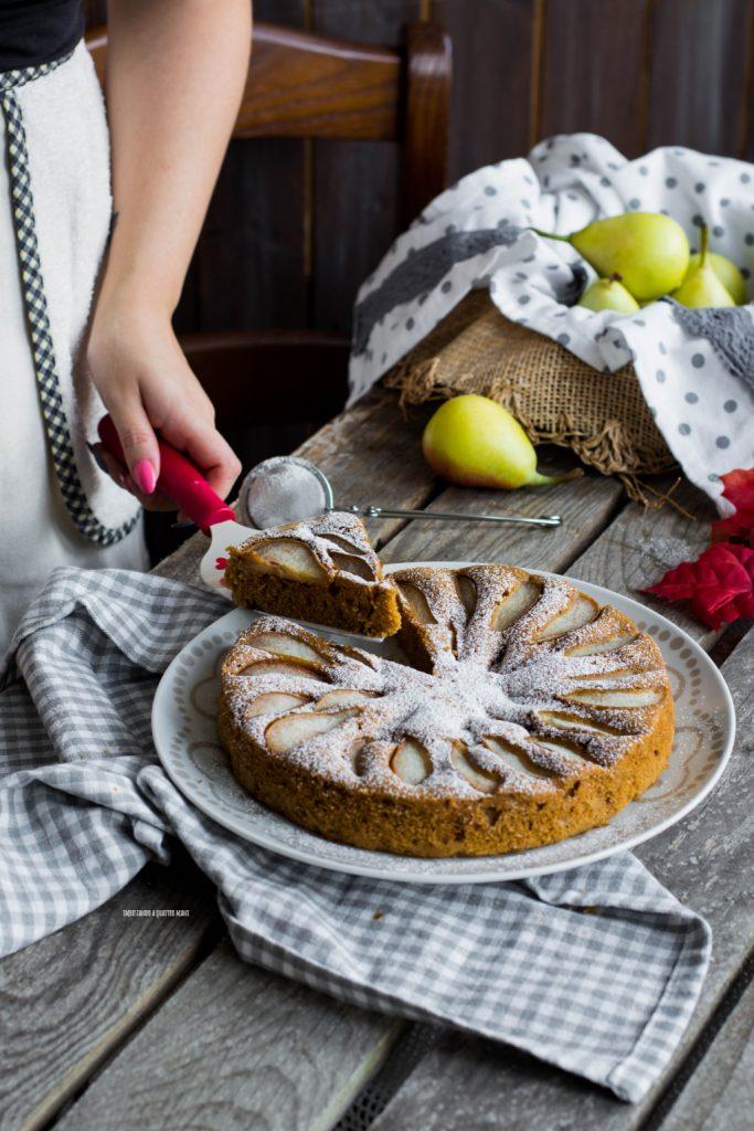 torta al muscovado con pere